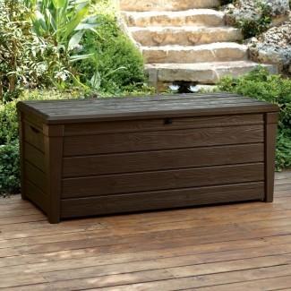 Brightwood Caja de cubierta de resina de 120 galones