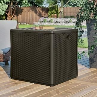 Cube Caja de plástico de 60 galones para cubierta