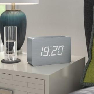 Reloj de escritorio de ladrillo digital Gingko