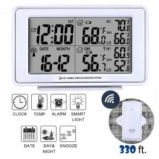 Reloj de escritorio con alarma digital electrónica