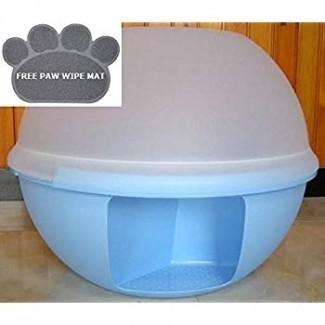 : Caja de arena para gatos cerrada de lujo. Extra ...