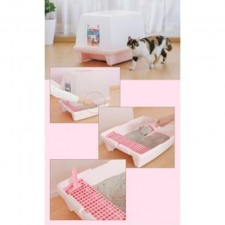 IRIS Caja de arena para gatos con capucha extra grande SN-620 - KissyPet