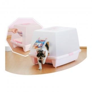 IRIS Caja de arena para gatos extra grande con capucha SN-620 - KissyPet