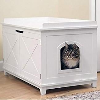 Amazon.com: Smart Design Cat, caja de baño extra grande ...