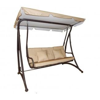 Darby - Columpio de 3 asientos para exterior con soporte