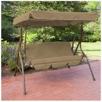 Reemplazo de 3 plazas con asiento y columpio con cubierta y cojines ...