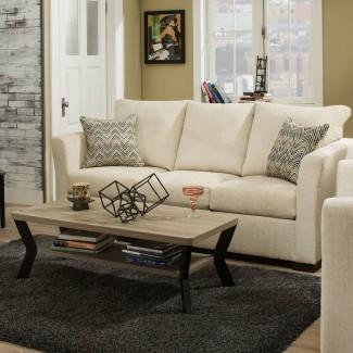 Sofá cama tapizado Simmons en castaño