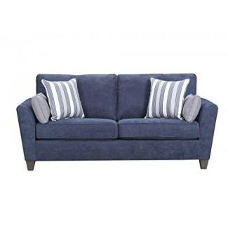 Simmons Upholstery Prelude Navy 7081-04Q Sleeper Sofa, Queen,