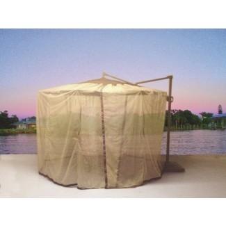 Malla de sombrilla mosquitera en voladizo