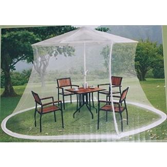 Malla para mosquitos para sombrilla de mercado de 9 pies -