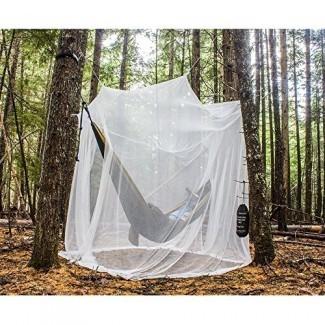MEKKAPRO Mosquitera ultra grande con bolsa de transporte, cortinas de malla de 2 aberturas grandes   Camping, ropa de cama, patio   Bolsa de transporte y kit para colgar