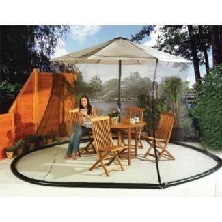 Sombrilla Mosquitera Canopy - Juego de mesa para patio con mosquitera - Gran red premium