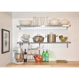 Estantes de pared de cocina de acero inoxidable IKEA ( Acero inoxidable ...