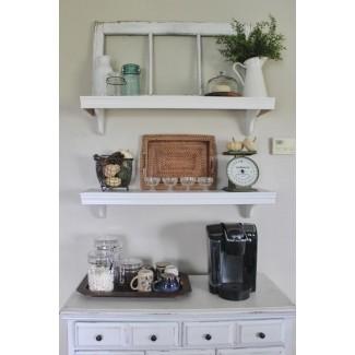 Interior: atractivo Estantes de cocina montados en la pared Ideas ...