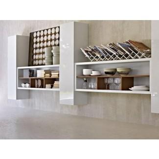 Mantenga todo a mano con estantes de pared de cocina | El mejor
