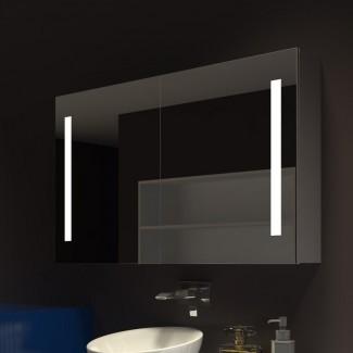 """Lency 48 """"x 28"""" gabinete de medicina sin marco de montaje en superficie con 3 estantes e iluminación LED"""