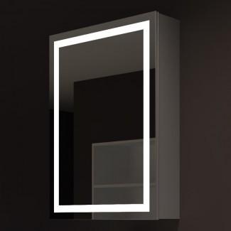 """Armario de medicamentos con marco de montaje en superficie Harmony de 24 """"x 32"""" con 3 estantes ajustables e iluminación LED"""
