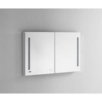 """Donnelly 48 """"x 40"""" empotrado o montaje de superficie sin marco botiquín con 4 estantes ajustables e iluminación LED"""