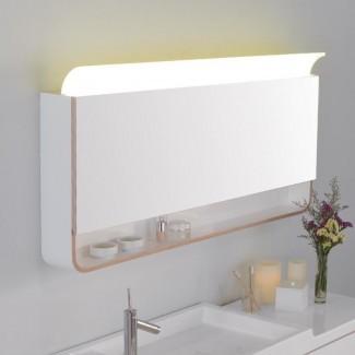"""Unity Mirror 47.24 """"x 25.63"""" gabinete de medicina de montaje en superficie con iluminación LED"""