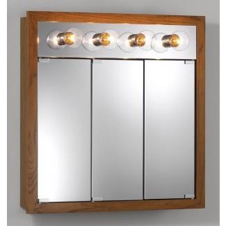 """Sturdivant 30 """"x 30"""" gabinete de medicina de montaje en superficie con iluminación"""