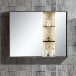 """Molden 39.37 """"x 31"""" botiquín de montaje en superficie con iluminación LED"""