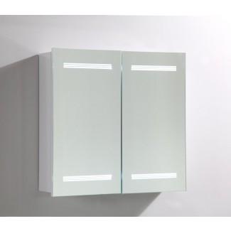 """Armario de medicina de montaje en superficie de 26 """"x 25"""" con iluminación LED"""