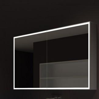 "Kristian 48 ""x 28"" montaje en superficie medicina enmarcada Gabinete con iluminación LED"