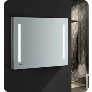 """Botiquín de baño Fresca Tiempo de 36 """"de ancho x 30"""" de altura con iluminación LED y desempañador"""
