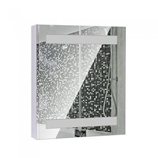 HomCom LED Cabina de espejo de baño de una puerta LED [19659010] Botiquín de espejo de baño de una puerta LED HomCom </div> </p></div> <div class=