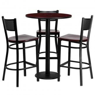 Juego de mesa de pub de 4 piezas