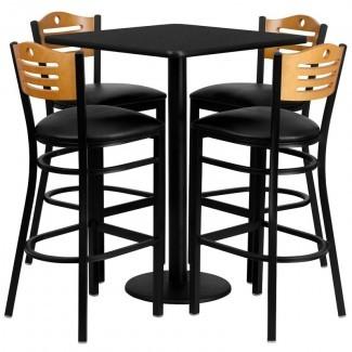 Juego de mesa de bar Joyeta de 5 piezas en negro