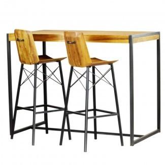 Conjunto de mesa de pub Port Augusta de 3 piezas