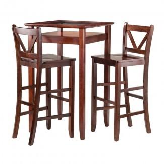Juego de mesa de pub de 3 piezas de Belmont