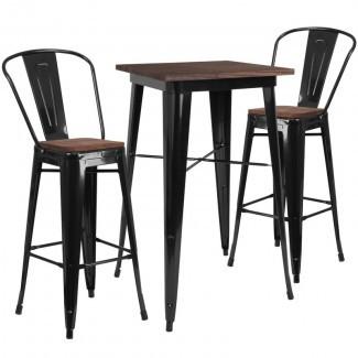 Juego de mesa de pub Preble de 3 piezas
