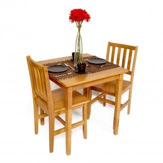 Juego de mesa y sillas Dining Bistro Small Cafe Tables Wood