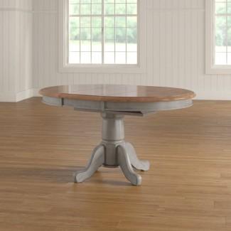 Mesa de comedor extensible con pedestal Wonderly