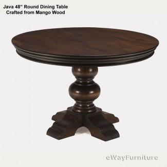 Mesa de comedor redonda Java 48 pulgadas