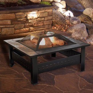 Mesa de fogatas de leña de acero