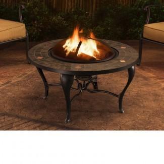 Mesa de fuego de leña de acero Sumpter Steel