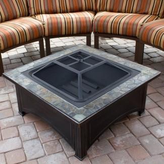 Mesa para fogatas de leña de acero
