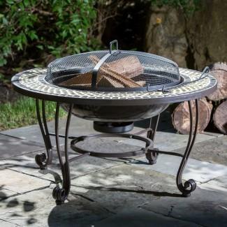 Mesa de fogatas de leña de acero Shannon