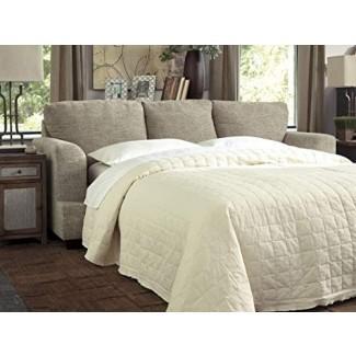 Benchcraft - Sofá cama tradicional tradicional Barrish - Colchón Queen Size incluido - Sisal
