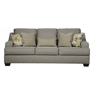 Benchcraft - Mandee Sofá cama moderno - Queen Size Colchón incluido - Pewter