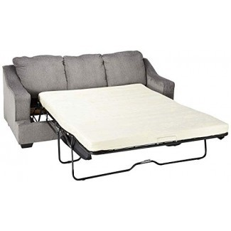 Diseño exclusivo de Ashley Furniture - Sofá cama tapizado de tamaño queen de Gilmer Chenille - Contemporáneo - Gunmetal