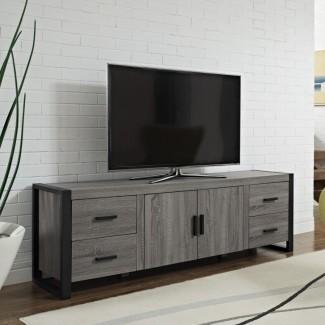 Armarios de TV cerrados modernos para pantallas planas con puertas ...