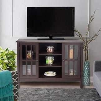"""Ta ngkula Soporte de TV, Classic Design Wood Storage Console Gabinete independiente para TV de hasta 45 """", Media Entertainment Center Muebles de sala de estar para el hogar, Television Stand Cabinet"""