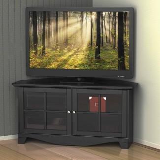 Los mejores 15+ de gabinetes de televisión de esquina negra con puertas de vidrio