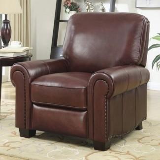 19659086] Sillón reclinable de cuero de grano superior </div> </p></div> <div class=