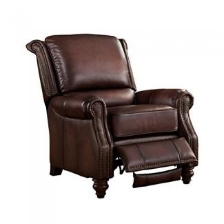 Sillón reclinable 100% cuero Hydeline Churchill, marrón