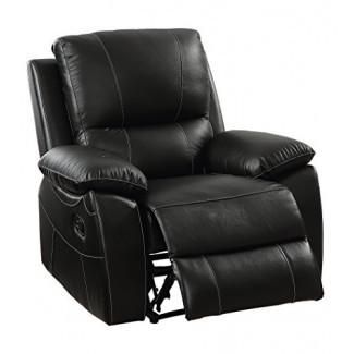 CASAS: Inside + Out IDF-6438-CH Jondo Contemporary Sillón reclinable de cuero de grano superior